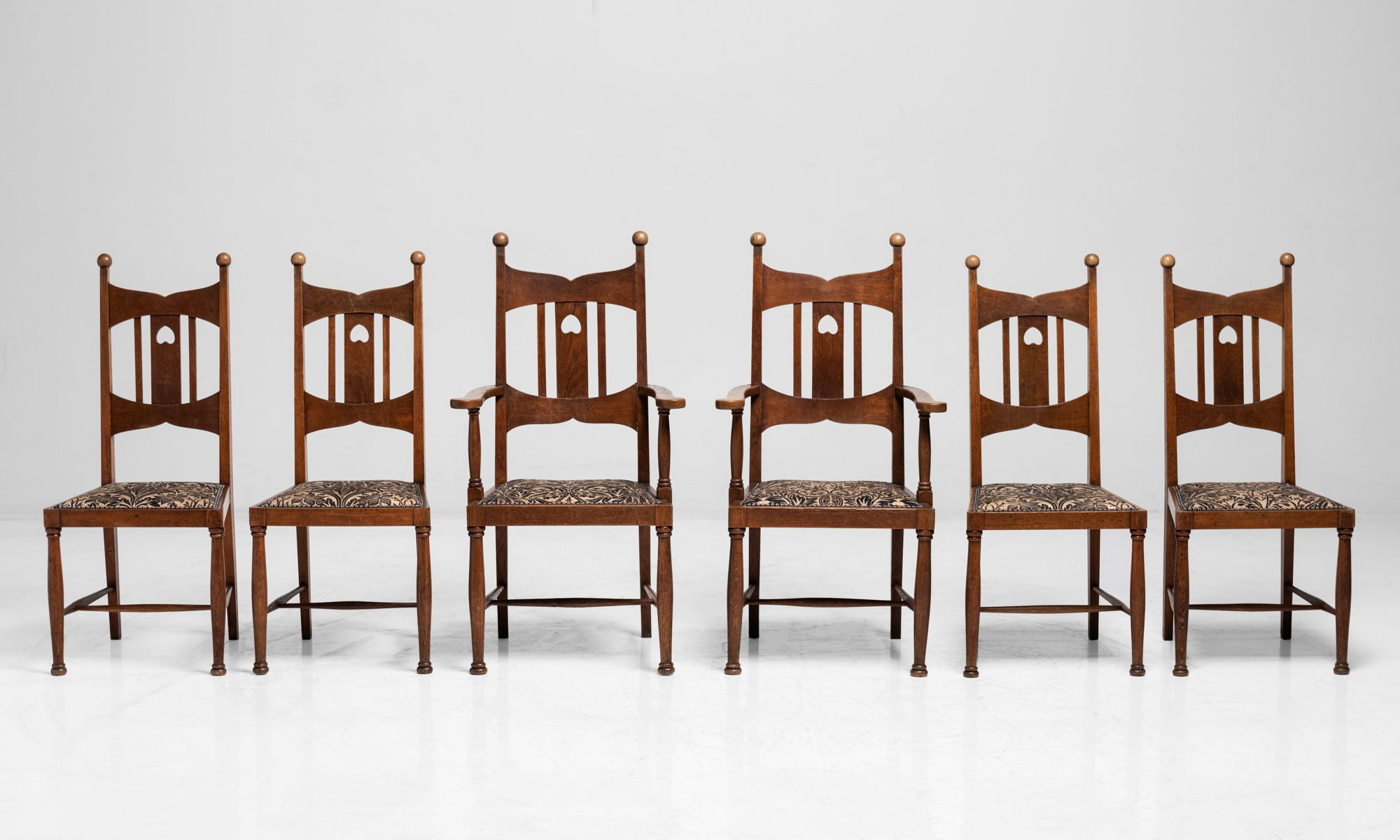 Set Of 6 Arts Crafts Dining Chairs Obsolete Arts And