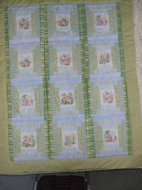 Green/Blue Peter Rabbit baby quilt   Baby Quilts   Pinterest ... : peter rabbit baby quilt - Adamdwight.com