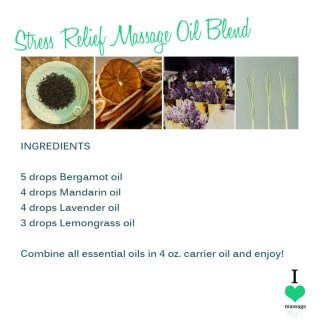 Stress Relief Massage Oil Blend