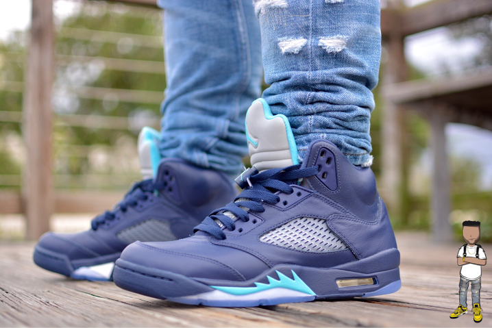 wholesale dealer b8abd 037cf Air Jordan 5 Midnight Navy Hornets | air jordan 5 retro ...
