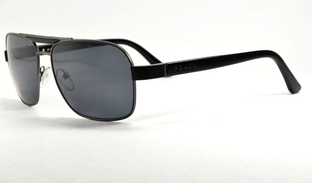 73252a225fc9a Prada Sunglasses SPR 55O 1BO -5Z1 Black   Gray Polarized Lenses 60 mm   fashion