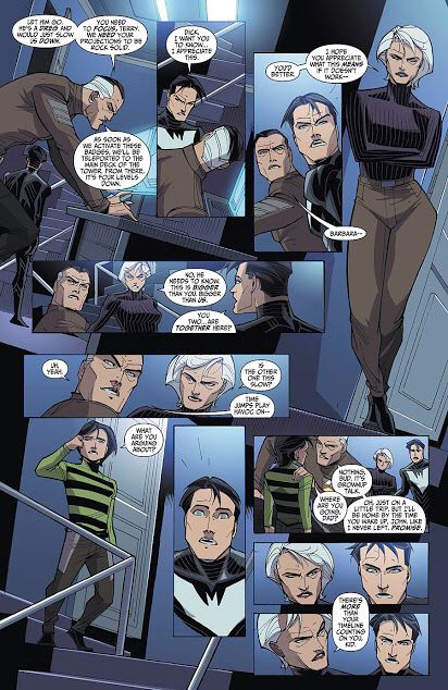 In Batman Beyond Universe #10/11 Justice Lords Dick Grayson and Barbara Gordon are married also have a son and Terry the batman of the future works for them