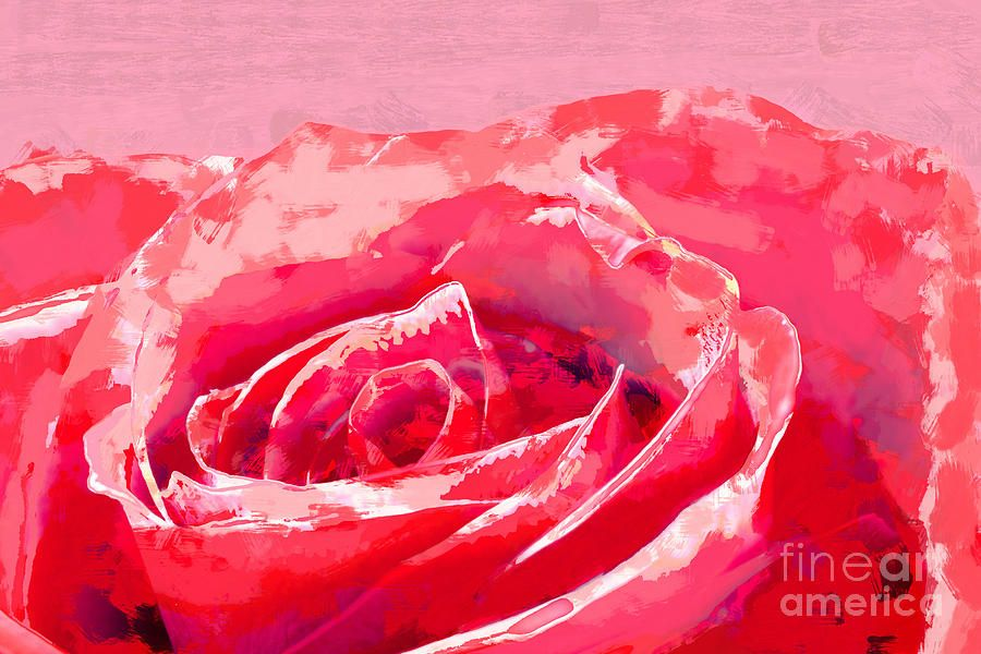 Painting - Rose Up-close Painting by D Tao #sponsored, , #Paid, #PAID, #Rose, #close, #Tao, #Painting