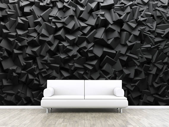 r sum fonc cube formes auto adh sif peler et coller photo 3d fresque r aliste papier. Black Bedroom Furniture Sets. Home Design Ideas