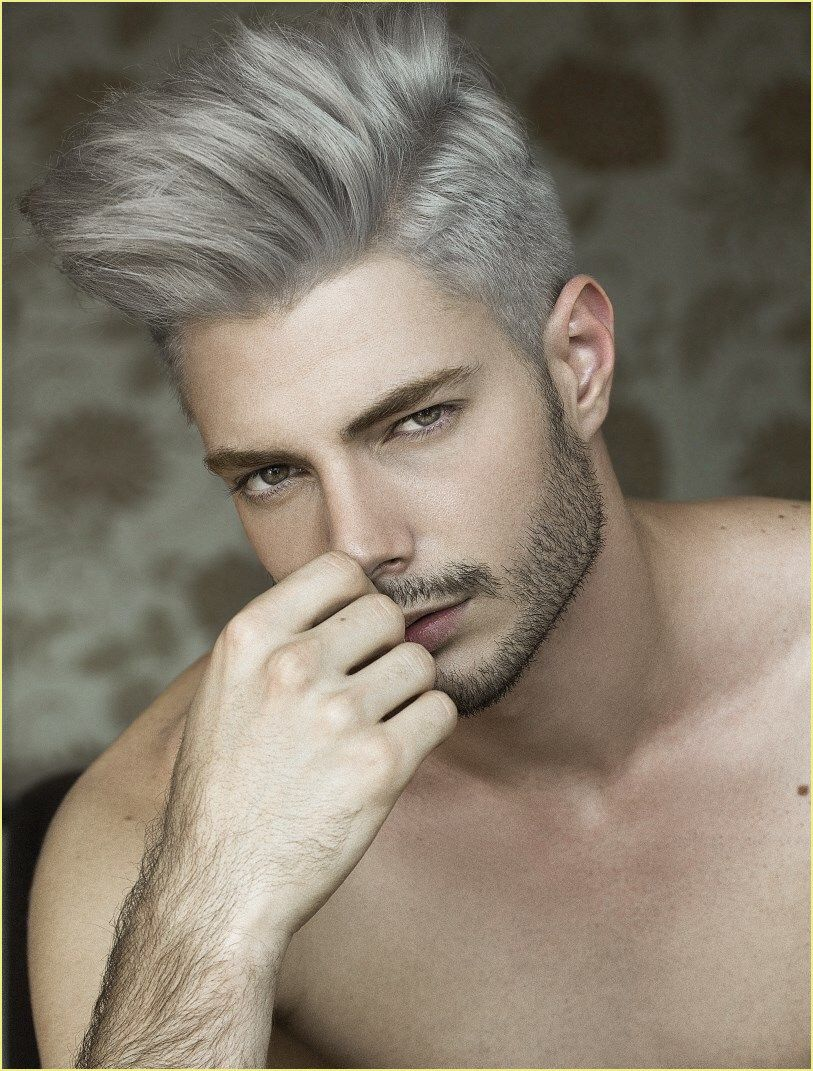 Frisuren Manner Seiten Kurz Oben Lang In 2020 White Hair Men Silver Hair Men Grey Hair Men