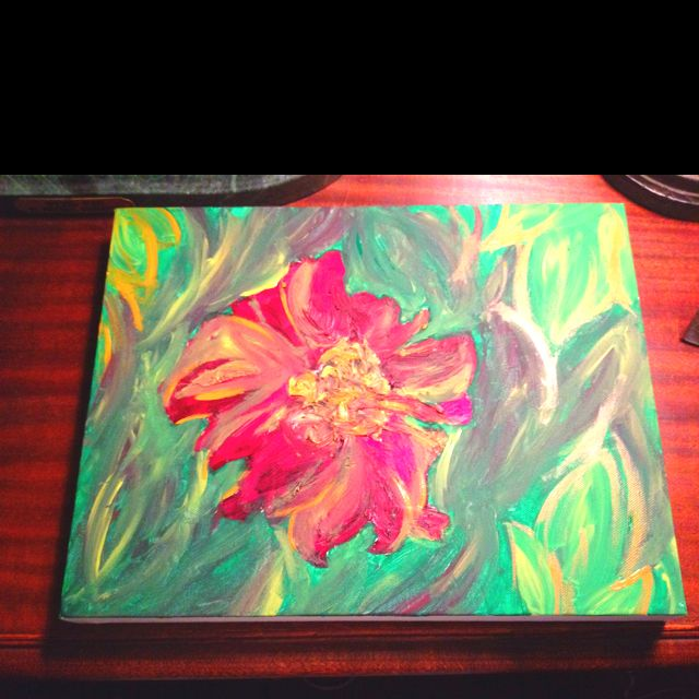 I love playing with acrylics.