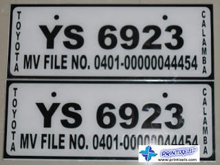Conduction Number Plates Vinyl Stickers On Acrylic Sticker - Custom vinyl decals for t shirt philippines