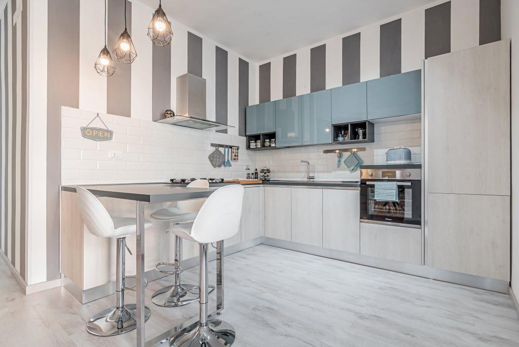 Ristrutturazione appartamento roma, tor sapienza cucina moderna di facile ristrutturare moderno