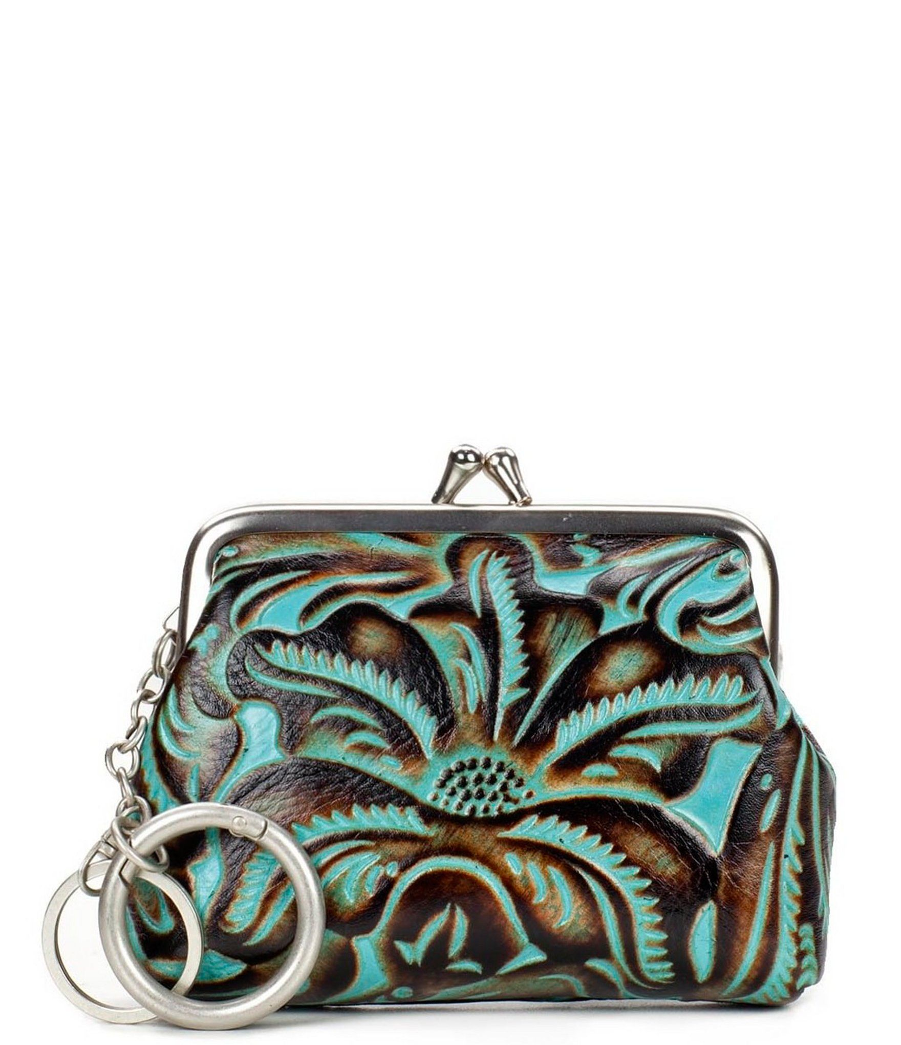 Patricia Nash Tooled Turquoise Collection Borse Coin Case Dillards