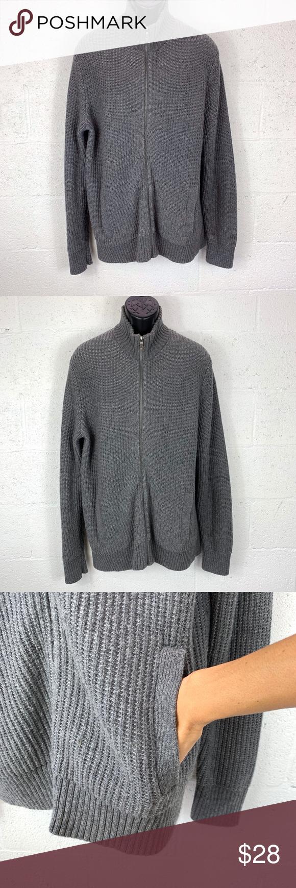 Banana Republic Factory Sz XL Knit Zip Up Sweater Banana