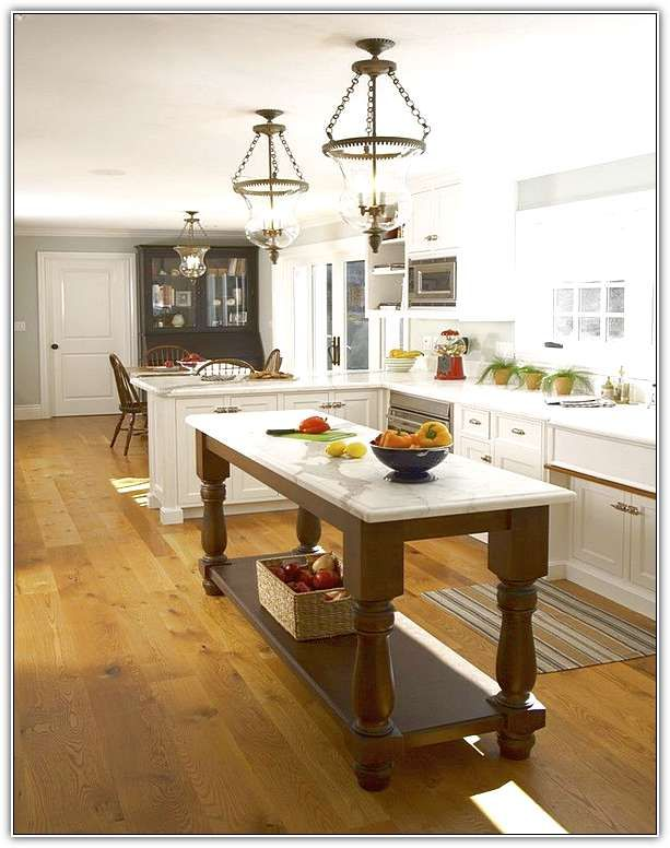Inspiring Long Narrow Kitchen Island Imposing Design Long Narrow ...