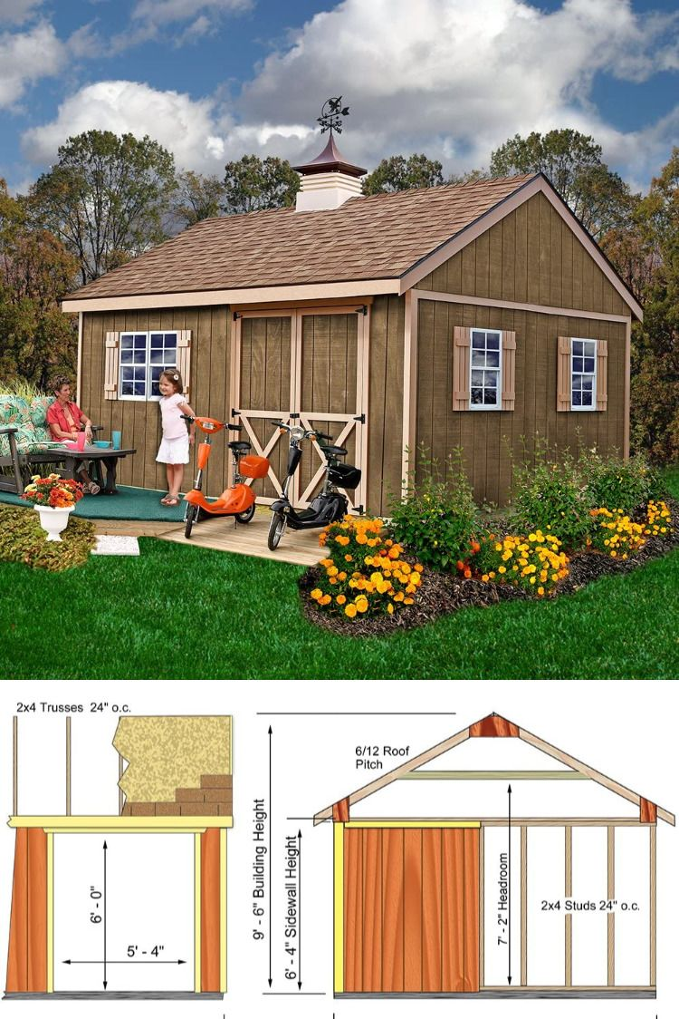 Pin By Tsh On Tiny Houses Guest Cottages Domes Rvs Tents Sheds With Images Shed Building Plans Building A Shed Shed