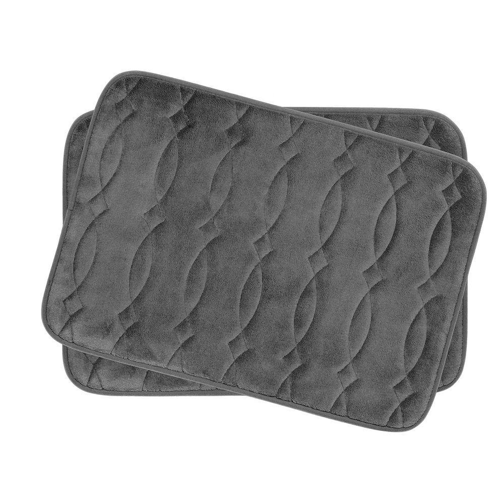 Bouncecomfort Grecian Dark Gray 17 In X 24 In Memory Foam 2