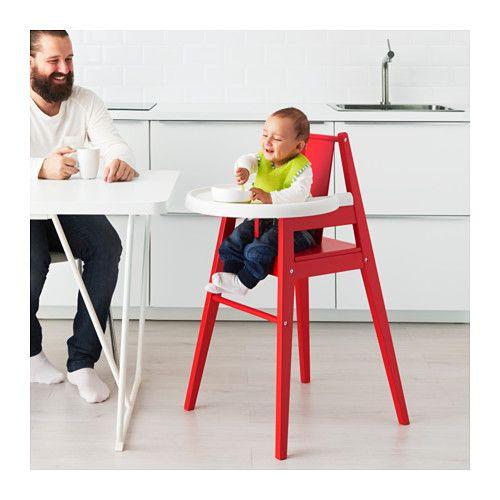 Bl 197 Mes Hoge Kinderstoel Met Blad Rood Ikea Muebles