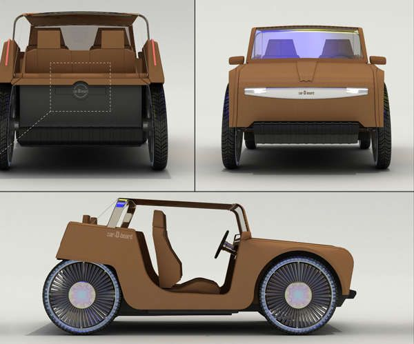 Rad Recyclable Vehicles - The Incredible Michelin carDboard Concept Car is Made Paper and Plastic (GALLERY)
