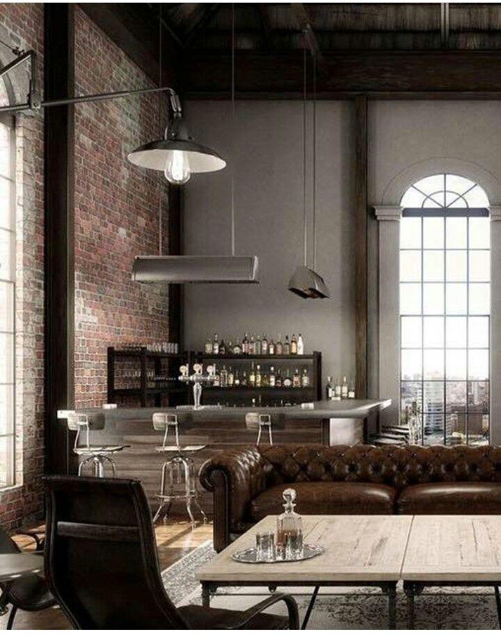 Bauernhaus, Haus Ideen, Innenarchitektur, Wohnzimmer, Wohnen,  Industriedesign Innenausstattung, Vintage Einrichtungen,  Industriearchitektur, Moderne ...