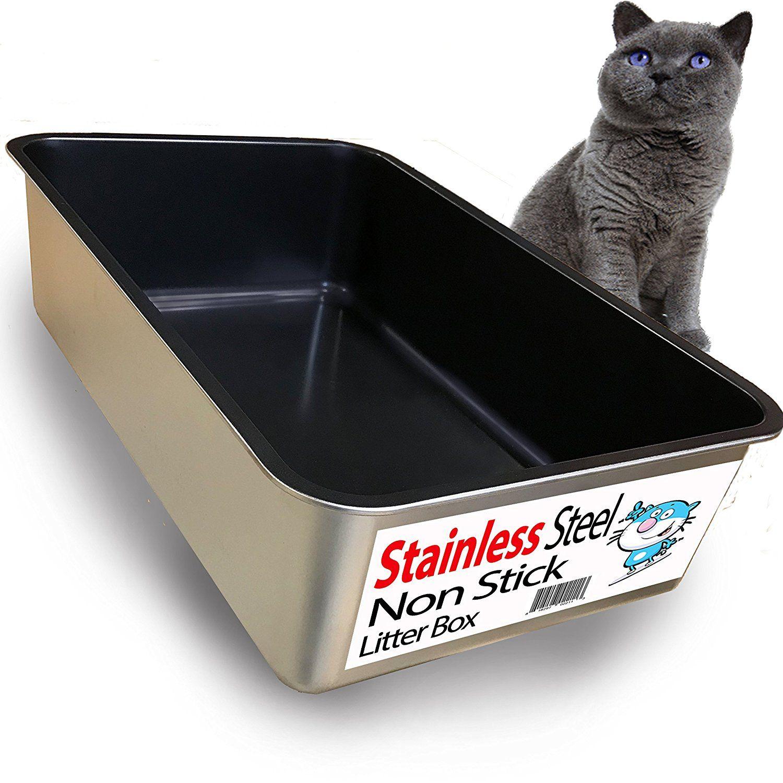 Iprimio Non Stick Litter Box Review Is Stainless Steel Good For Cats Cat Litter Box Cat Litter Litter Box
