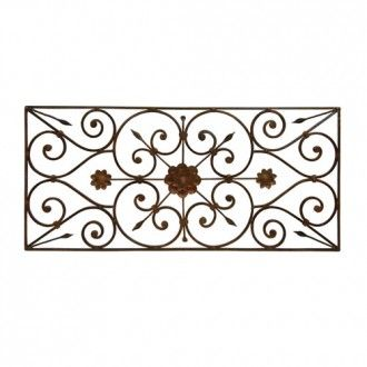 deluxe wall decor wrought iron - Wrought Iron Wall Designs