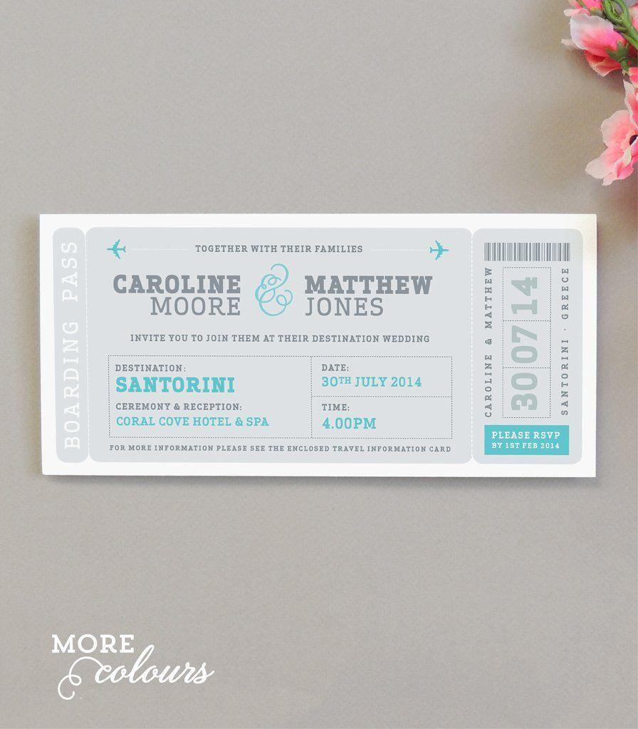 air ticket wedding invitation - Google Search | Hindu Wedding ...