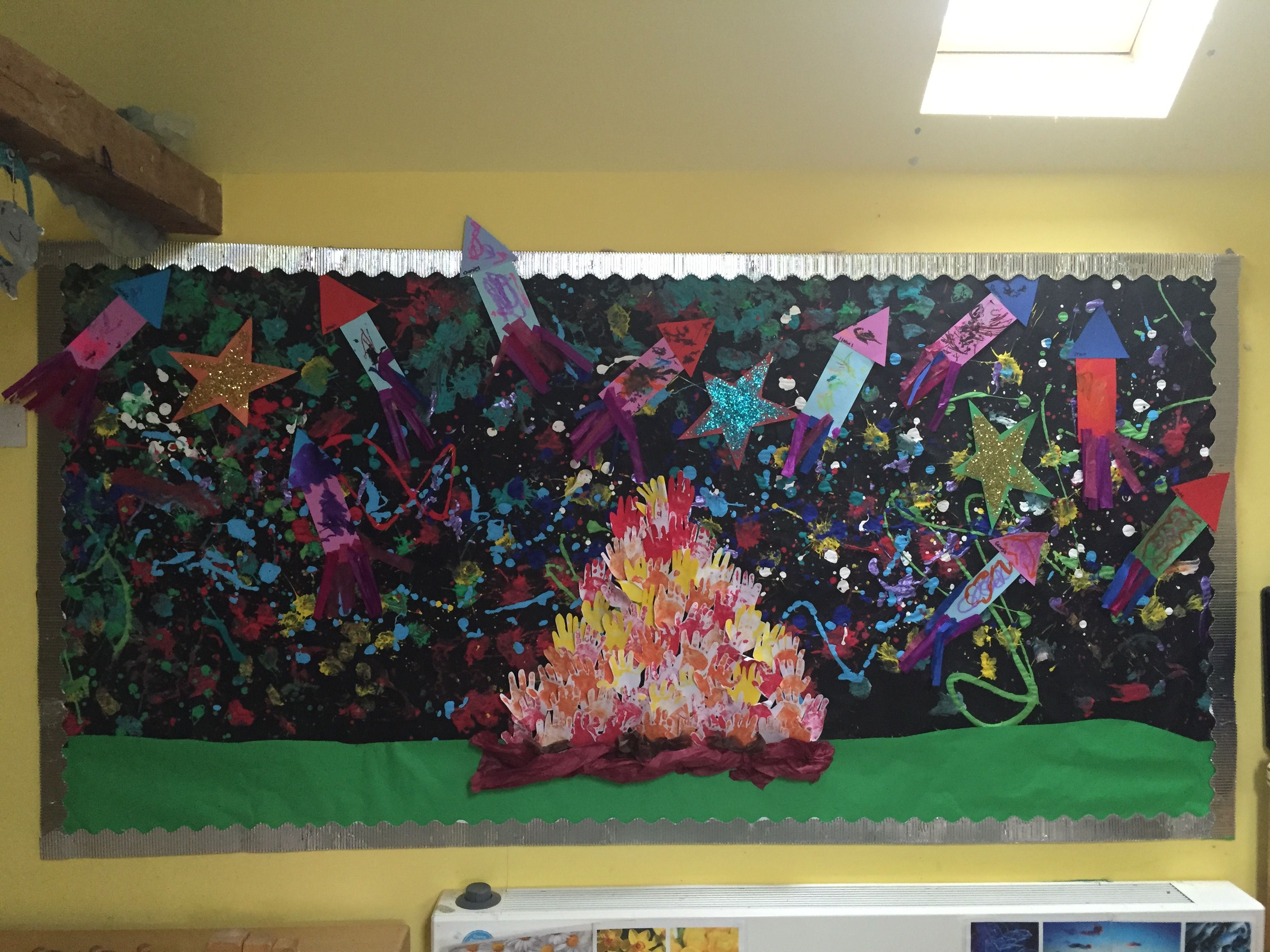 An Early Years 'Bonfire Night/fireworks' display from Kate's class ...