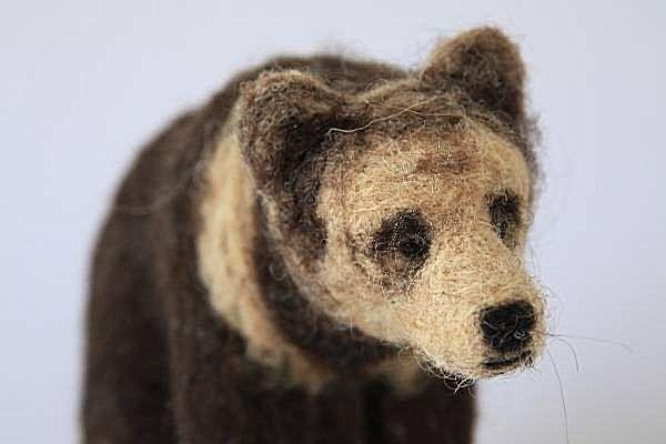 Rebecca McDonald felted art bear