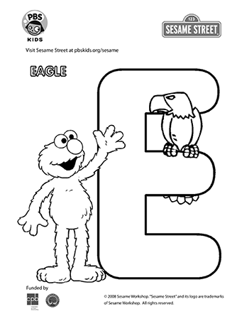 PBS offers free coloring pages at pbskids.org/sesame/art