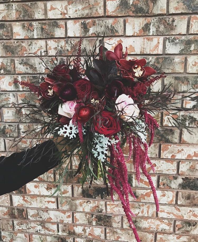 Dynamic Burgundy Bridal Bouquet | Moore Flowers Wichita