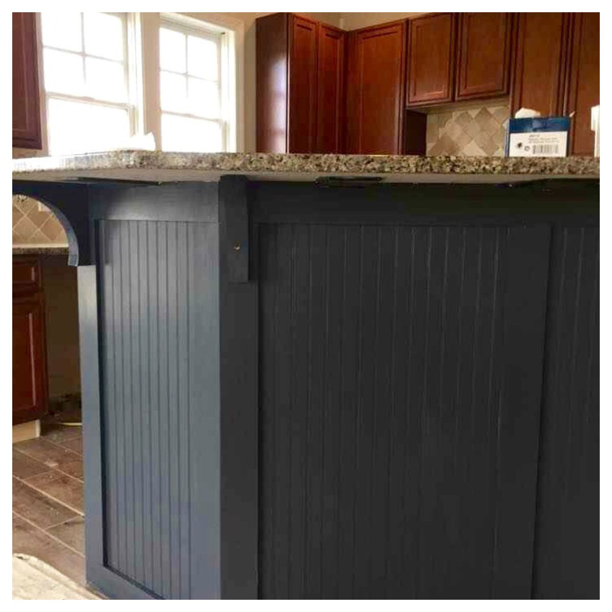 Love Our Center Island Design With Beadboard Paint Color Baby