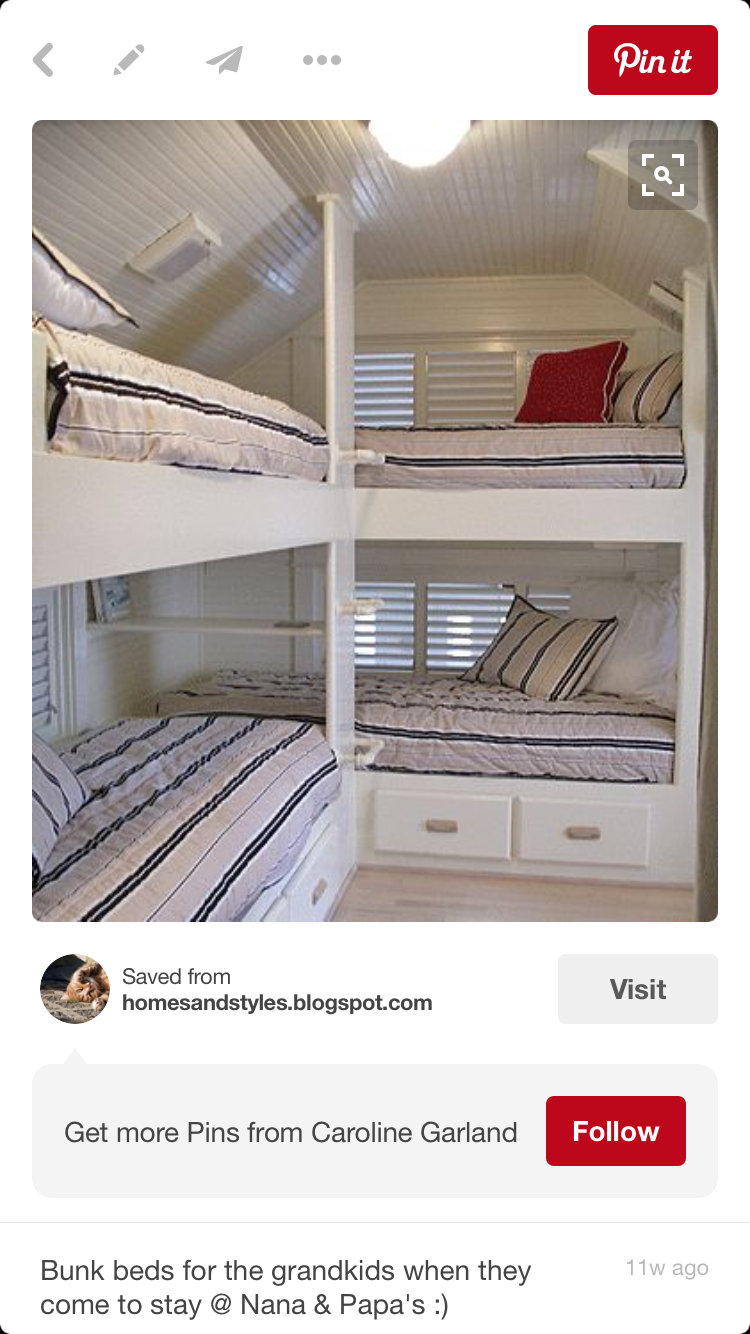 bunk room for 4 attic idea