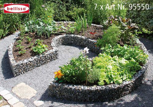 Hochbeet Garten Pinterest Hochbeet, Steinzaun und Gärten - gartenbeet steine anlegen