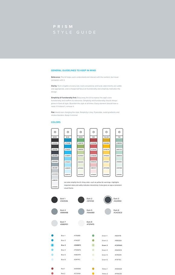 Prism Brand Style Guide Background Resume Pinterest Brand   Resume Style  Guide  Resume Style Guide