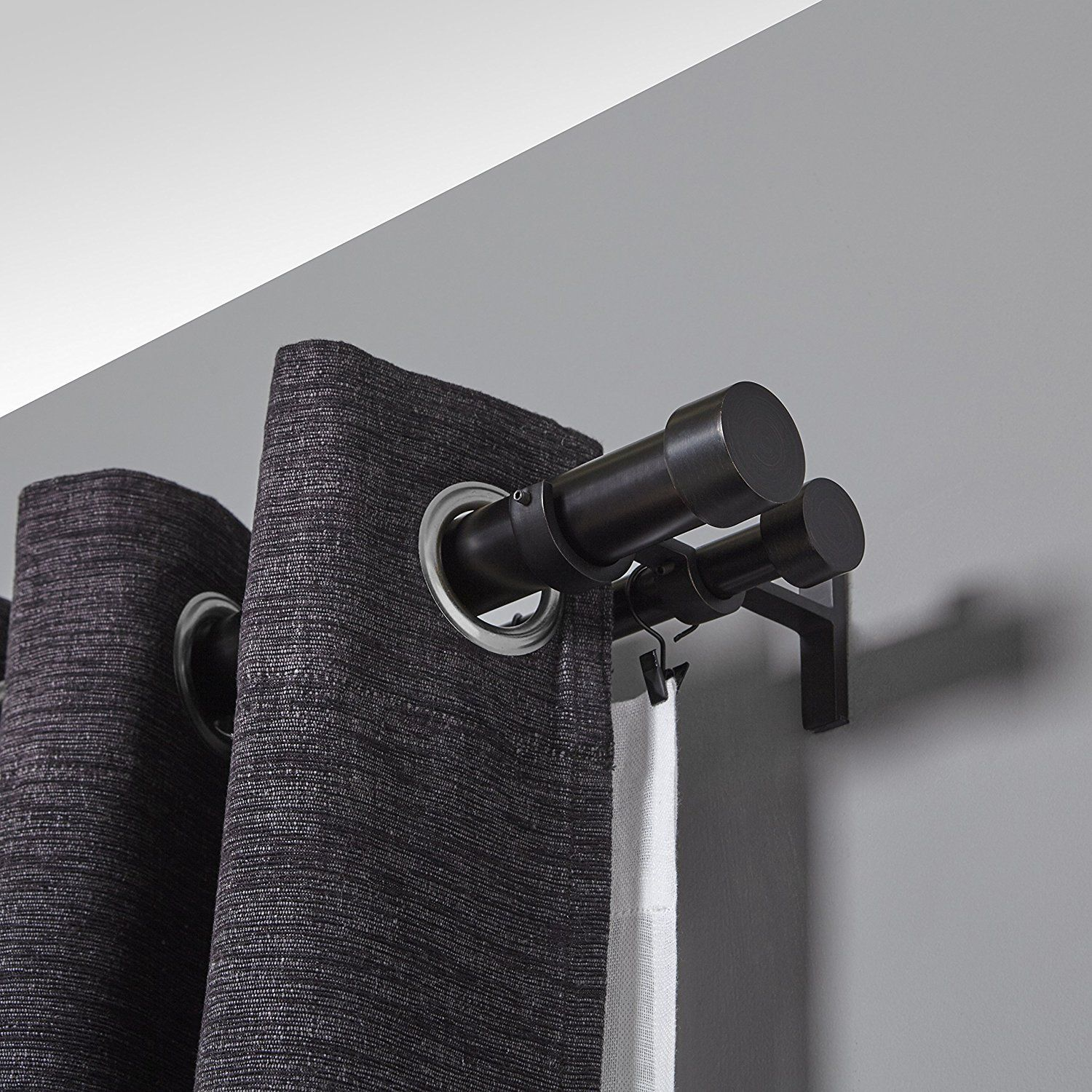 inch double curtain rod for window