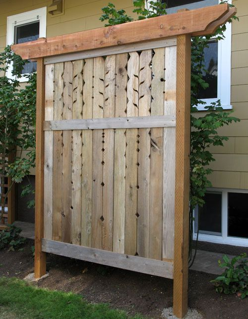 Privacy panel by gardening ideas for Wood privacy screen panels