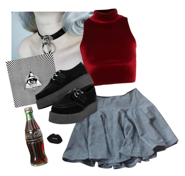 """illuminati"" by leticiabgmr ❤ liked on Polyvore featuring beauty, DK, Retrò and Velvetine"