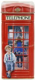 Vintage British Telephone Money Box filled with toffees
