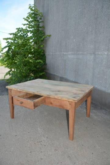 meilleur authentique 853a7 c9f49 Table basse Vintage : Ancienne table de ferme transformée en ...