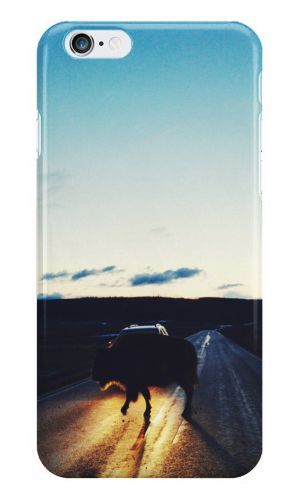 Antiquease bison-in-the-headlights Hard Back Cover For Apple iPhone
