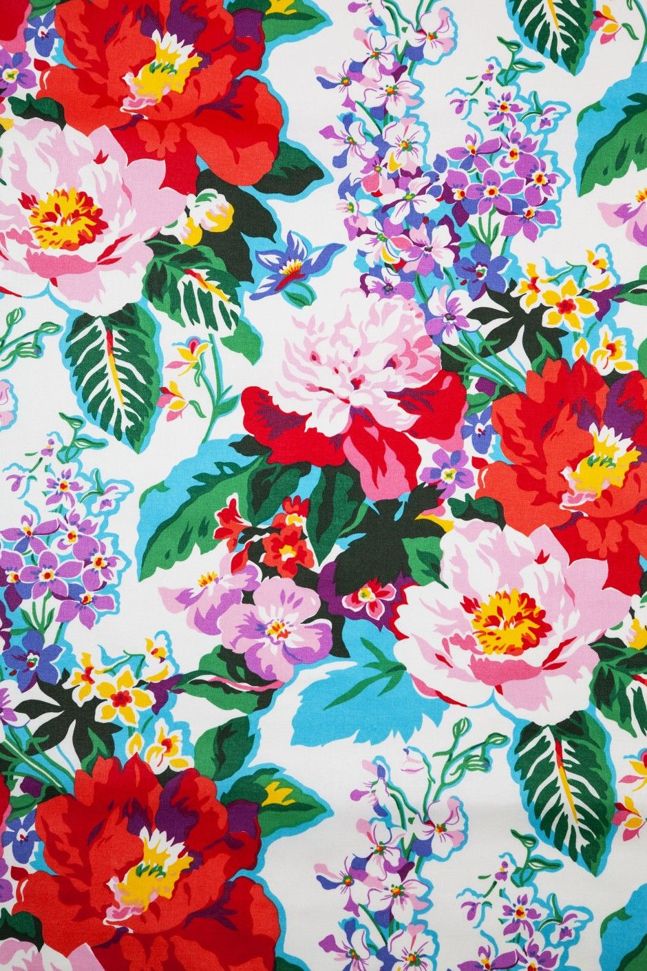 Greenbrier - Dorothy Draper Fabrics and Wallcoverings | floral.floral.floral. | Print wallpaper ...