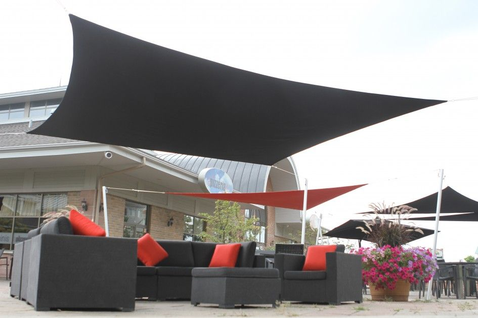 Incredible Sail Canopy For Patio From Black Cotton Canvas