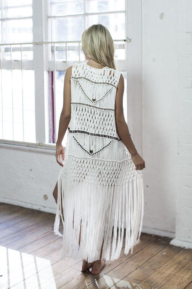 Macrame vest. Gorgeous. I want!