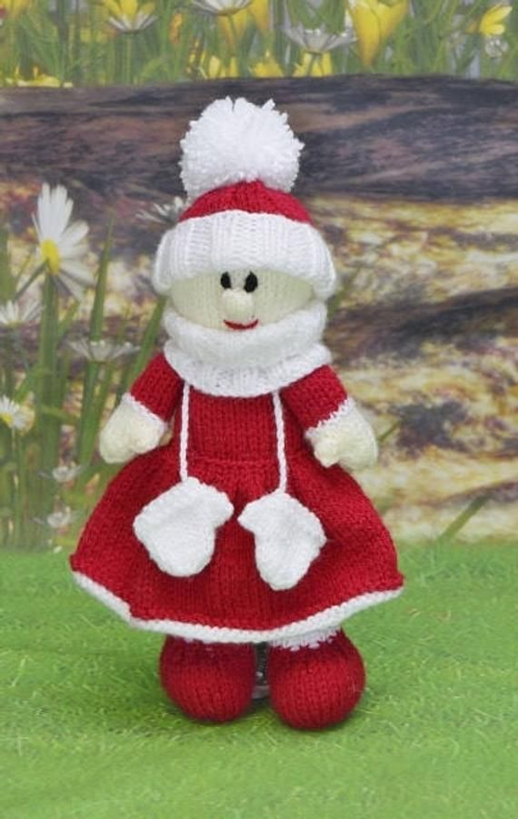 KNITTING PATTERN - Christmas Eve Doll Soft Toy Knitting ...