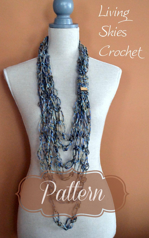 Madison Necklace Crochet Pattern by LivingSkiesCrochet on Etsy