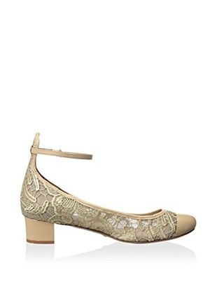 Schutz Women's Patricia Pump with Ankle Strap (Oyster)