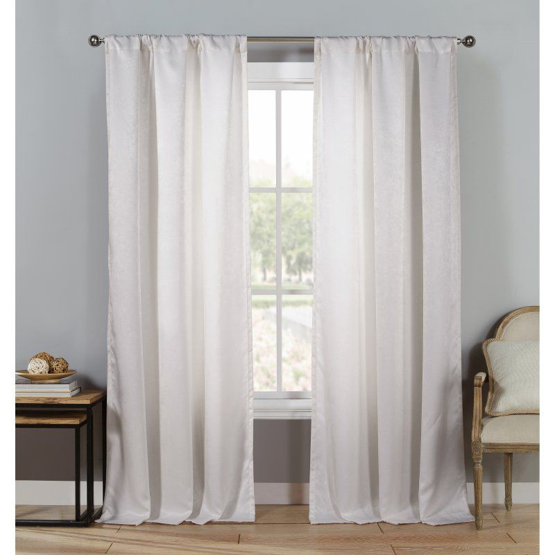 Duck River Quincy Pole Top Curtain Panel Pair - QURWH=12 /11381