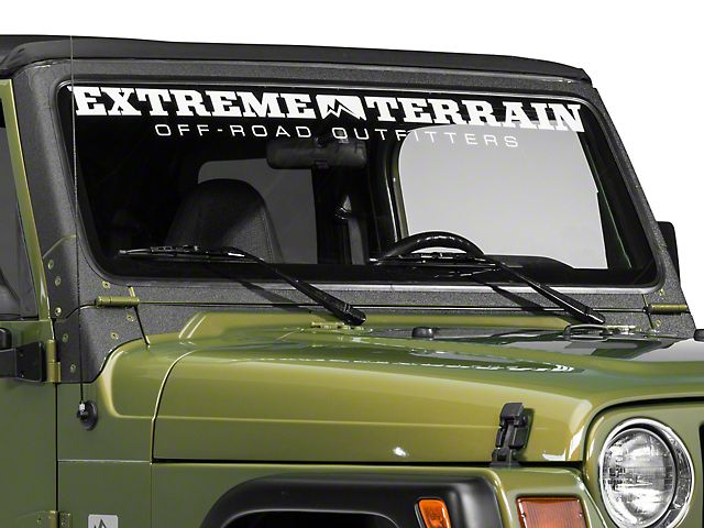 Barricade Windshield Frame Body Shield Decal Black 97 06 Jeep