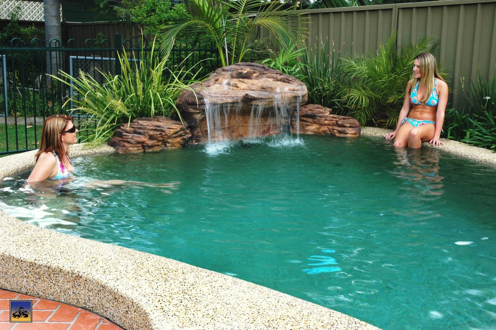 Pool Waterfall, Easy Way To Add Beauty - above ground pool ...