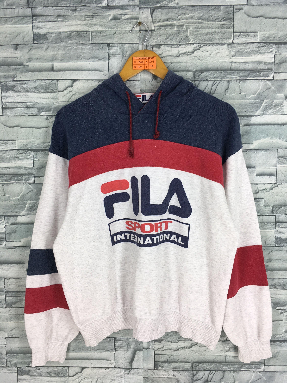 4a50d9c7f92d Vintage 90s FILA Sweater Jumper Hoodie Medium Fila Italia Sportswear  Streetwear Multicolor Sweater Fila Sport Pullover Sweatshirt Size M by ...