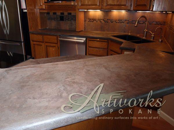 Concrete Overlay Over Tile Countertops Tile Design Ideas