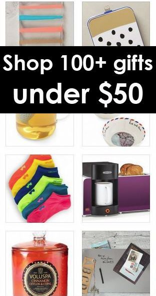 Hundreds of gifts under $50 - GREAT pin http://www.trendslove.com ...
