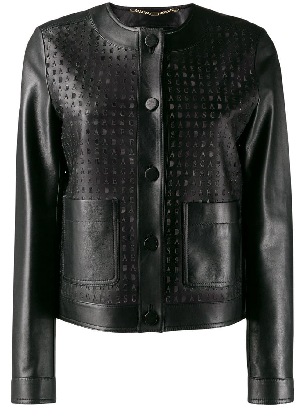 Escada Perforated Leather Jacket Farfetch [ 1334 x 1000 Pixel ]